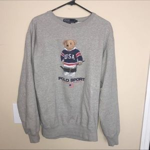 Vintage Polo Sport Polo Bear Sweater MINT cond.